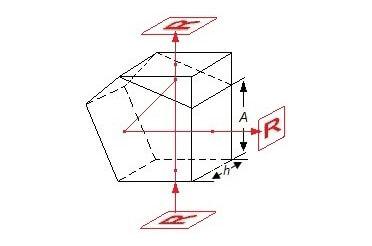 Strahlteilerpentaprisma Funktionsweise Zeichnung